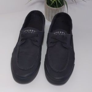 Sperry Top-Sider Black Boat Shoes